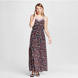 Strappy Blouson Maxi Dress